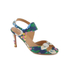 Carven Women's High Floral Sandals - Multi: Image 2