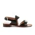 Carven Women's Flat Popper Sandals - Black: Image 1