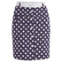Carven Women's Printed Button Up Mini Skirt - Multi: Image 1