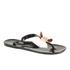 Ted Baker Women's Ettiea Jelly Bow Flip Flops - Black/Cream: Image 4