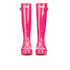 Hunter Women's Original Tall Gloss Wellies - Bright Cerise: Image 2