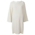 Helmut Lang Women's Satin Back Crepe Scoop Tunic Dress - Ivory: Image 1