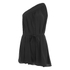 Helmut Lang Women's Stretch Silk Crepe Asymmetrical Top - Black: Image 1