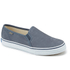 Keds Women's Double Decker Washed Leather Slip On Trainers - Navy: Image 2