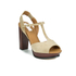 See By Chloé Women's Suede Platform T Bar Heeled Sandals - Beige: Image 2