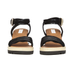 See By Chloé Women's Leather Wedged Sandals - Black: Image 4