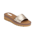 See By Chloé Women's Leather Slide Sandals - Gold: Image 3
