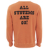 TSPTR Men's Astro Snoopy Crew Neck Sweatshirt - Orange: Image 2