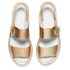 Paul Smith Shoes Women's Ilse Leather Double Strap Sandals - Vanilla Rodeo Metallic: Image 2