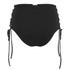 Mara Hoffman Women's Reversible Lace Up High Waisted Bikini Bottoms - Black: Image 2