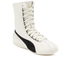 Puma Women's Eskiva Hi Lace-Up Trainers - White/Black: Image 4