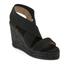 Castaner Women's Bernard Strappy Espadrille Wedged Sandals - Black: Image 2