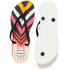 Havaianas Women's Slim Tribal Flip Flops - White/Black: Image 5