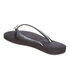 Havaianas Women's Slim Crystal Poem Flip Flops - Black/Graphite: Image 4