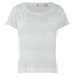 Levi's Women's Boyfriend Tee With Side Slits - Stripe Washed Blue/White: Image 1