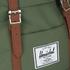 Herschel Retreat Backpack - Green/Tan: Image 4