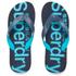 Superdry Men's Flip Flops With Clear Sole - Fluro Blue/Dusk Navy: Image 1