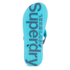 Superdry Men's Flip Flops With Clear Sole - Fluro Blue/Dusk Navy: Image 5