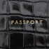 Aspinal of London Women's Passport Cover Purse - Black Croc: Image 5