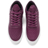 Filling Pieces Women's Stripe Quilted Low Top Leather Trainers - Purple: Image 2