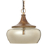 Bark & Blossom Copper and Glass Dome Hanging Light: Image 1