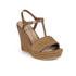 UGG Women's Fitchie T Bar Wedged Sandals - Rust: Image 5
