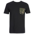 Carhartt Men's Lester Short Sleeve Pocket T-Shirt - Black/Camo: Image 1