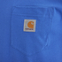 Carhartt Men's Short Sleeve Pocket T-Shirt - Dolphin: Image 3
