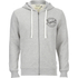 Jack & Jones Men's Originals Len Zip Through Hoody - Light Grey Marl: Image 1