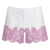 MICHAEL MICHAEL KORS Women's Embroidered Mini Shorts - White: Image 1