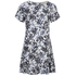 MICHAEL MICHAEL KORS Women's Gemma Silk Textured Print Dress - New Navy: Image 1