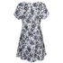 MICHAEL MICHAEL KORS Women's Gemma Silk Textured Print Dress - New Navy: Image 2