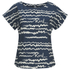 Karl Lagerfeld Women's Jacquard Scribble Top - Blue: Image 1
