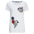 Karl Lagerfeld Women's Tropical Patches T-Shirt - White: Image 1
