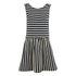 Maison Kitsuné Women's Marin Bali Dress - Black/White: Image 1