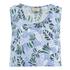Maison Kitsuné Women's Ana Hibiscus Wrap Around Top - Emerald Sky: Image 1