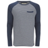 Brave Soul Men's Monacle Striped Raglan Long Sleeve Top - Navy: Image 1
