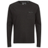 Brave Soul Men's Wolfgang Zip Pocket Long Sleeve Top - Black: Image 1