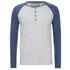 Camiseta manga larga Brave Soul Rasmus - Hombre - Gris/azul vintage: Image 1