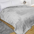 Luxurious Mink Faux Fur Throw - Silver: Image 3