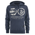 Crosshatch Men's Arowana Hoody - Insignia Blue: Image 1