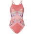 MINKPINK Women's Bloomin Beach Cross Over Low Back One Piece Swim Suit - Pink: Image 1