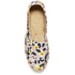 Jil Sander Navy Women's Graphic Flowers Espadrilles - Red/White: Image 3