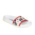 Jil Sander Navy Women's Graphic Flowers Slide Sandals - Red/White: Image 3