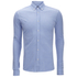 Scotch & Soda Men's Pique Long Sleeved Shirt - Blue: Image 1