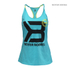 Better Bodies Women's Twisted T-Back Tank Top - Aqua Blue: Image 1