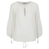 Munthe Women's Equal Sheer Tassel Detailed Blouse - Ivory: Image 1