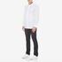 HUGO Men's Ewid Collar Detail Long Sleeve Shirt - White: Image 4