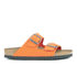 Birkenstock Women's Arizona Slim Fit Suede Double Strap Sandals - Orange: Image 1