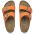 Birkenstock Women's Arizona Slim Fit Suede Double Strap Sandals - Orange: Image 2